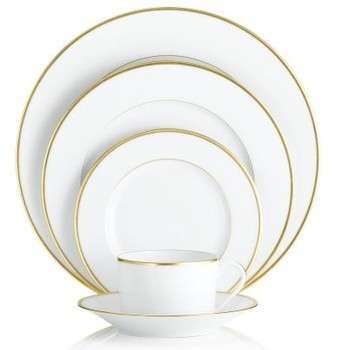 Scintillating White Dinnerware With Gold Trim Contemporary - Best ...