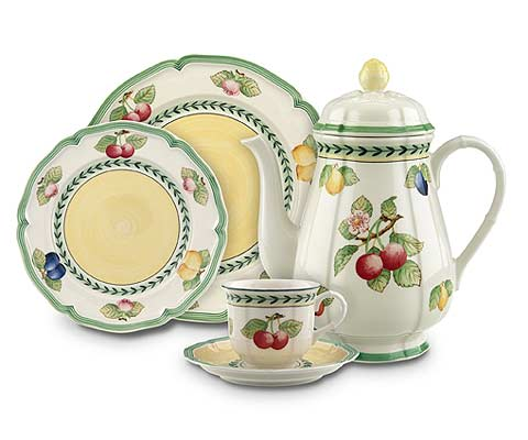 The Most Popular Pattern In Casual Dinnerware Is Villeroy U0026 Bochu0027s French  Garden. The Placesetting Pieces Are Available In (4) Mix And Match Designs:  ...