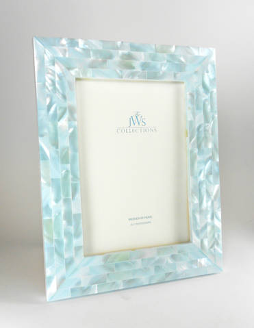 blue mother of pearl - Mother Of Pearl Picture Frame